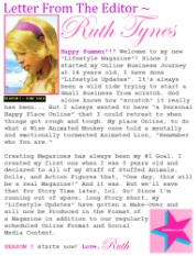 Letter From The Editor June 2018 Ruth Tynes Lifestyle Blogger